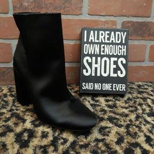 Jessica Simpson Windee Black SATIN High Heel Boot